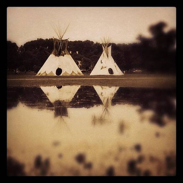 Teepees In Town  Art Print