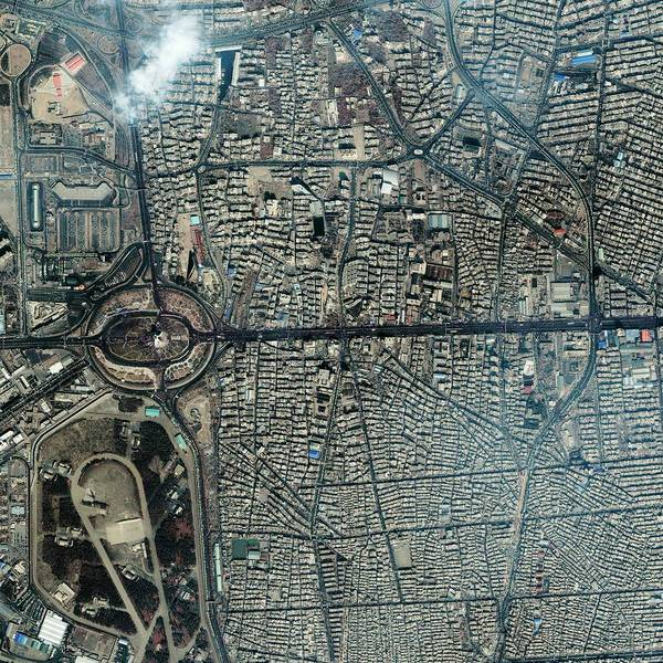 Wall Art - Photograph - Tehran Freedom Tower by Geoeye/science Photo Library