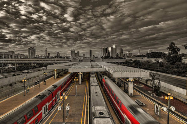 Blade Runner Photograph - Tel Aviv Central Railway Station by Ron Shoshani