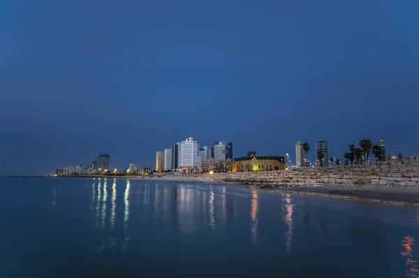 Wall Art - Photograph - Tel Aviv The Blue Hour by Ron Shoshani