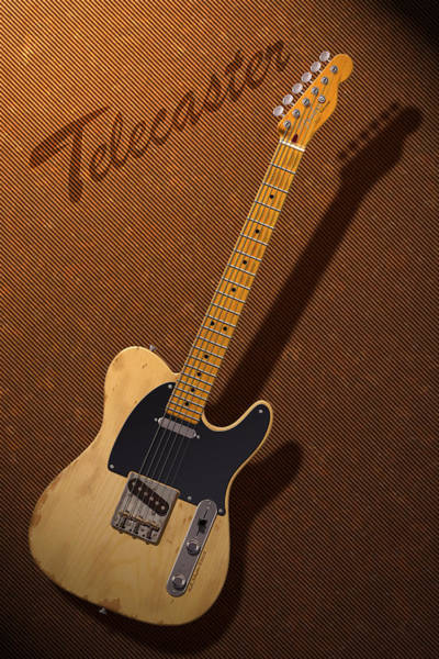 Broadcaster Wall Art - Digital Art - Telecaster by WB Johnston