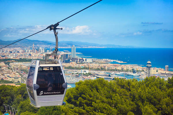 Aerial Tramway Wall Art - Photograph - Teleferic De Montjuic by Alejandro Tejada