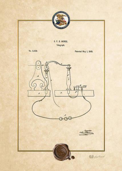 Digital Art - Telegraph By S.f.b. Morse - Vintage Patent Document by Serge Averbukh