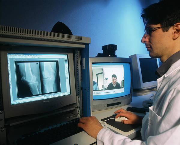 Patient Photograph - Telemedicine Consultation by Mauro Fermariello/science Photo Library