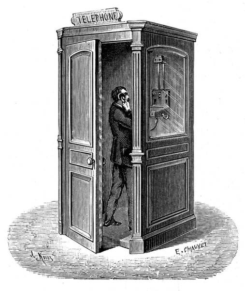 Engraving Photograph - Telephone Call Box by Universal History Archive/uig