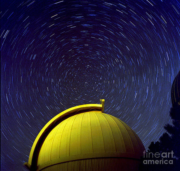Photograph - Telescope Dome With Circumpolar Rotation by John Chumack