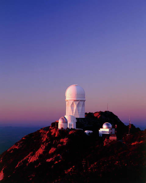 Dome Peak Photograph - Telescope Domes At The Kitt Peak Observatory by David Parker/science Photo Library