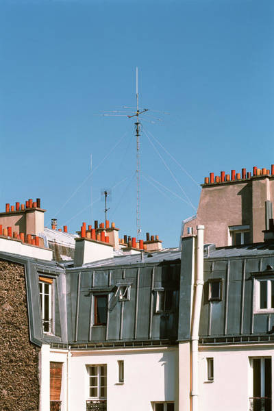 Paris Rooftop Photograph - Television Aerial by Alex Bartel/science Photo Library