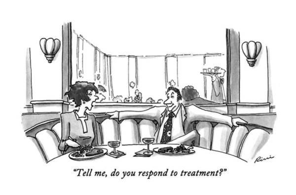 Date Drawing - Tell Me, Do You Respond To Treatment? by J.P. Rini