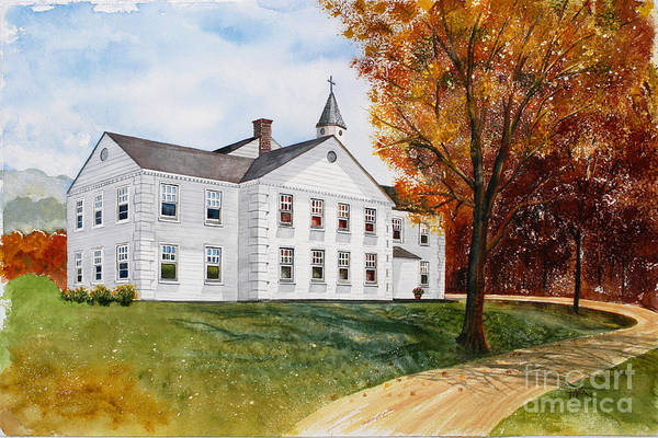 Painting - Tellico First Methodist by Teri Brown