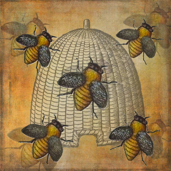 Beehive Digital Art - Telling The Bees by Kandy Hurley