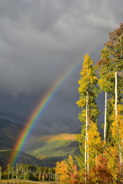Photograph - Telluride Fall Rainbow by Ray Mathis