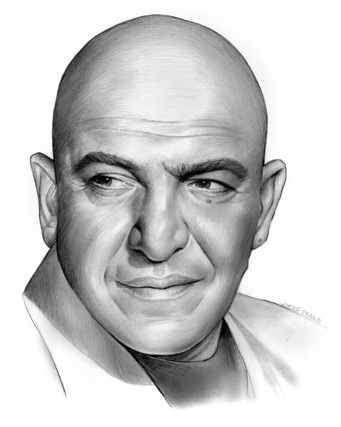 Television Drawing - Telly Savalas by Greg Joens