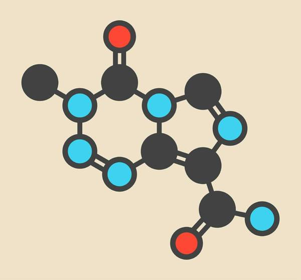Brain Cancer Wall Art - Photograph - Temozolomide Cancer Drug Molecule by Molekuul