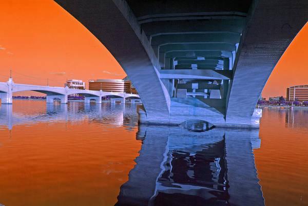 Photograph - Tempe Town Lake Bridges by Tam Ryan