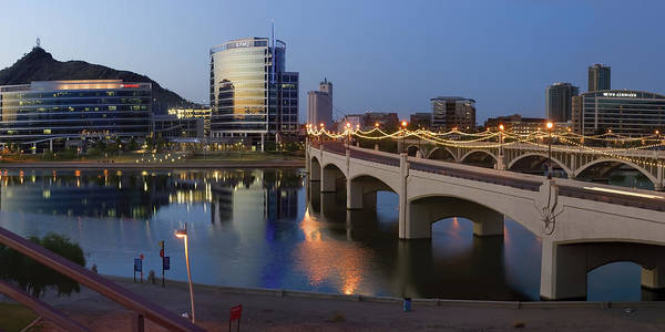Photograph - Tempe Town Lake Pano by Dave Dilli
