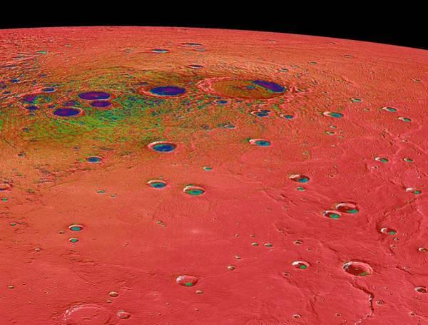 Deposit Photograph - Temperatures At Mercury's North Pole by Nasa/johns Hopkins University Applied Physics Laboratory/carnegie Institution Of Washington
