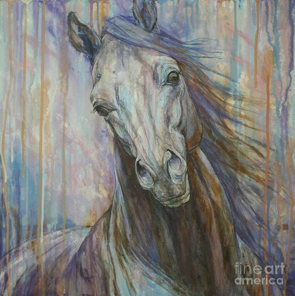 Horse Wall Art - Painting - Tempest by Silvana Gabudean Dobre