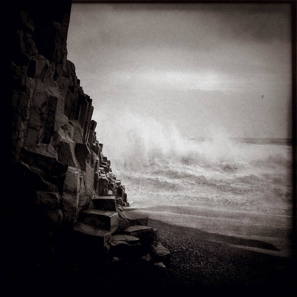 Iphoneography Wall Art - Photograph - Raging Sea by Dave Bowman