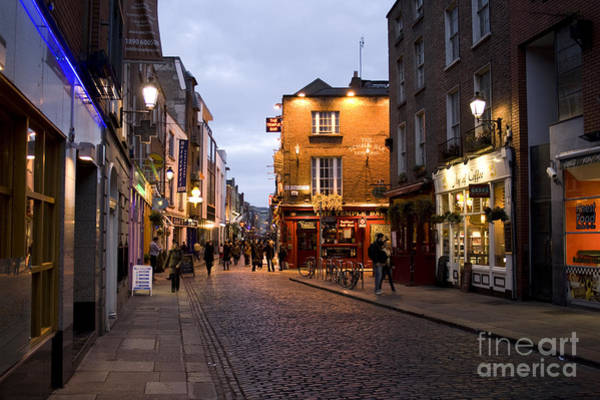 Temple Bar Wall Art - Photograph - Nightly Temple Bar District In Dublin  by Patricia Hofmeester