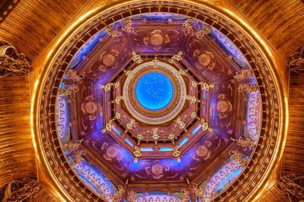 Photograph - Temple Ceiling by Bill Hamilton