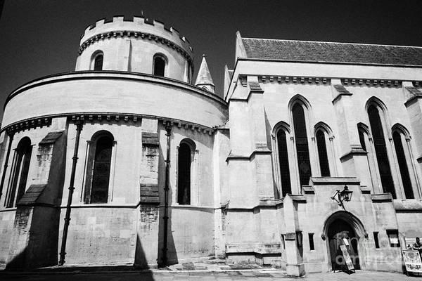 Knights Templar Photograph - temple church 12th century church home to the knights templar London England UK by Joe Fox