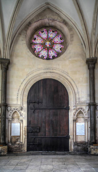 Photograph - Temple Church Doorway by Ross Henton