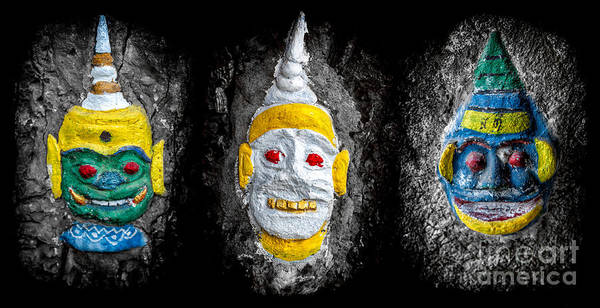 Photograph - Temple Faces by Adrian Evans