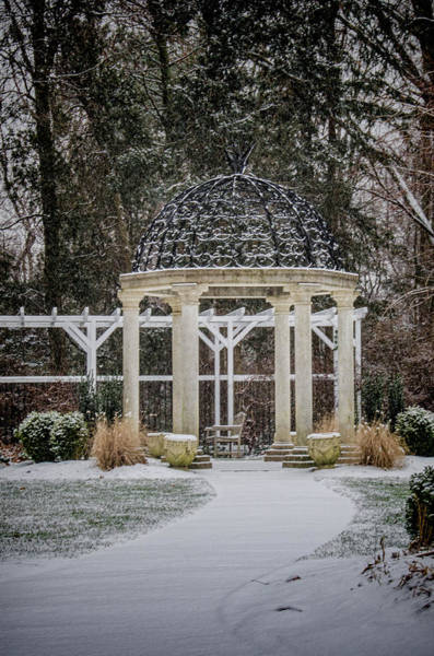 Photograph - Temple Gardens In Winter At Sayen Gardens by Beth Sawickie