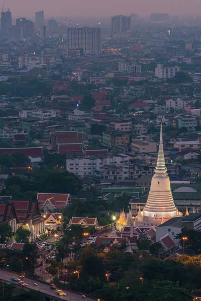 Thai Photograph - Temple In Bangkok by Weerakarn Satitniramai