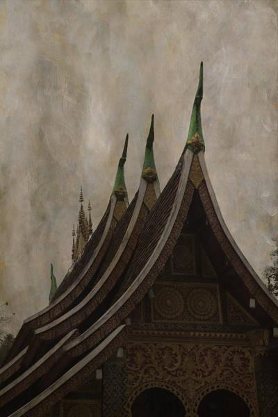 Photograph - Temple In Luang Prabang by Maria Heyens