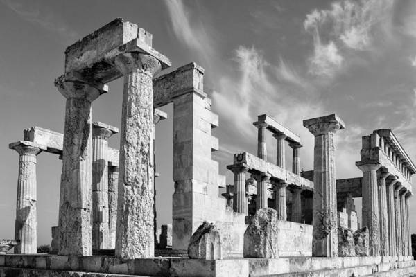 Photograph - Temple Of Aphaea On Aegina In Greece by Paul Cowan