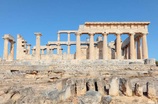 Photograph - Temple Of Aphaia Side View by Paul Cowan