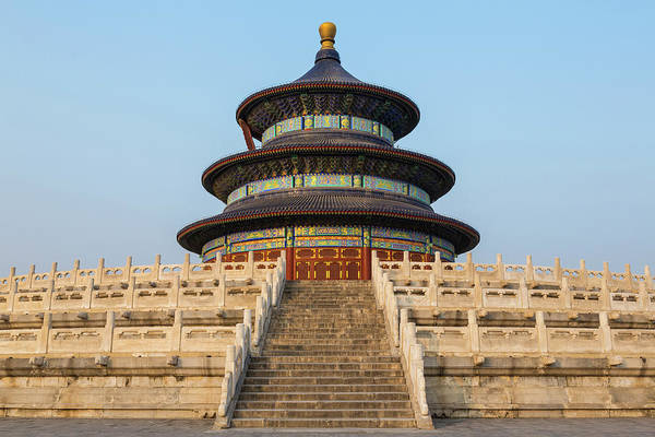 Beijing Photograph - Temple Of Heaven And Hall Of Prayer by Peter Adams