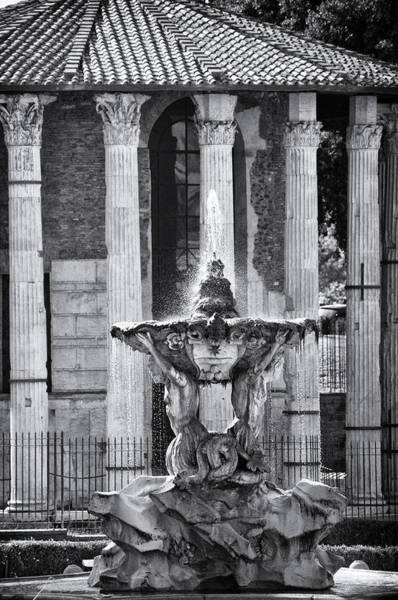 Photograph - Temple Of Hercules And Fountain Of The Tritons In Rome by Melany Sarafis