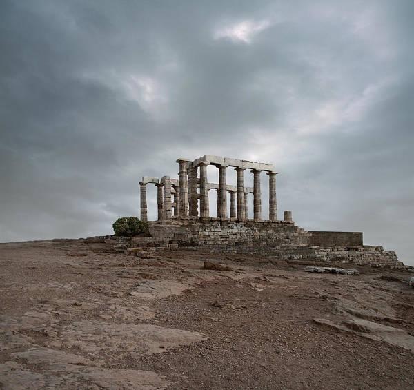 Ancient Greek Photograph - Temple Of Poseidon At Sounion, Greece by Ed Freeman