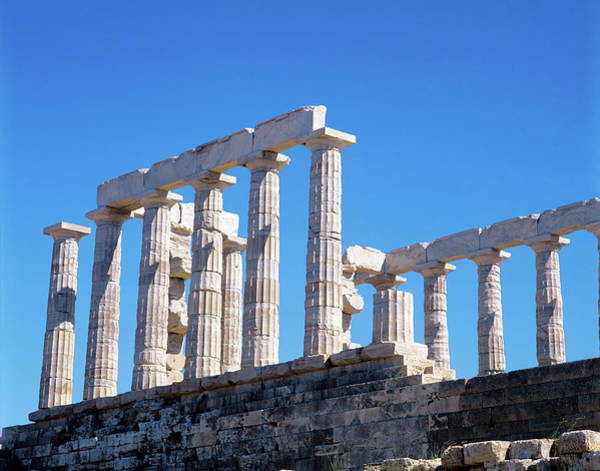 Ancient Greek Photograph - Temple Of Poseidon In Sounion, Greece by Adina Tovy