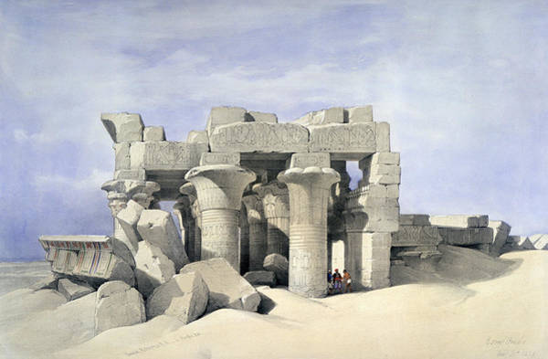 Nile Painting - Temple On Nile by David Roberts