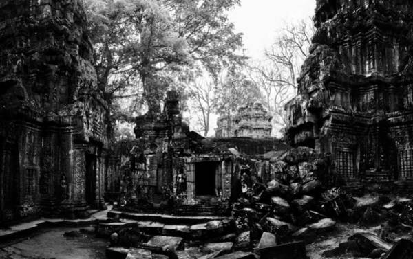 Angkor Wall Art - Photograph - Temple Ruin by Julian Cook