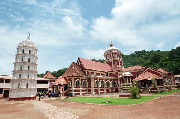 Goa Photograph - Temple Shantadurga Temple by Lissillour