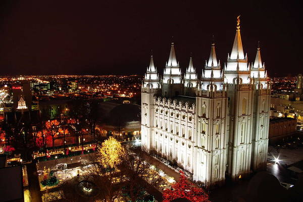 Photograph - Temple Square by David Andersen