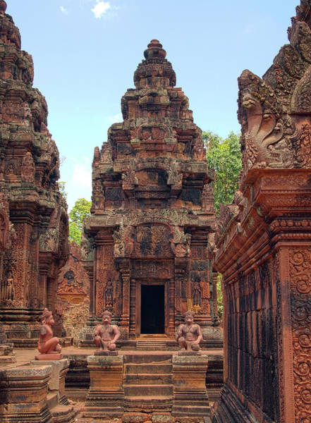 Cambodian Photograph - Temple by William Childress