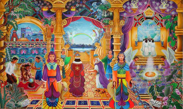 Art Print featuring the painting Templo Sacrosanto by Pablo Amaringo