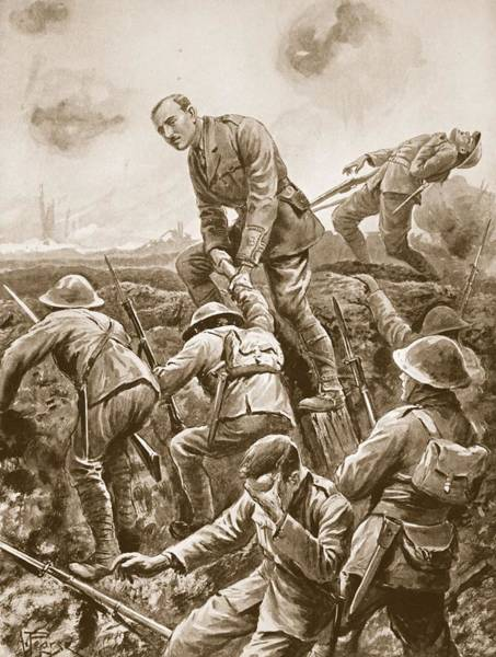 Warfare Drawing - Temporary Major S.w. Loudoun-shand by Alfred Pearse
