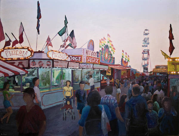 County Fair Painting - Temptation In Paradise First Version by Don Perino