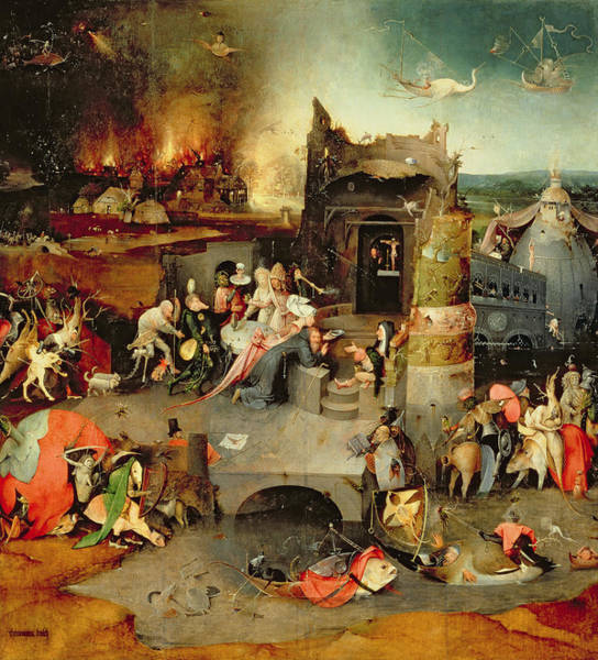 Wall Art - Painting - Temptation Of Saint Anthony Centre Panel  Detail by Hieronymus Bosch