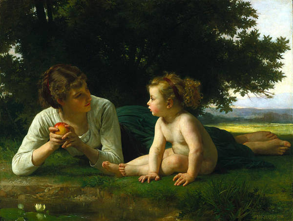 Old Masters Digital Art - Temptation by William Bouguereau