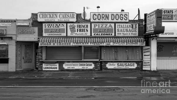 Pizza Photograph - Temptations At Hampton Beach by Edward Fielding