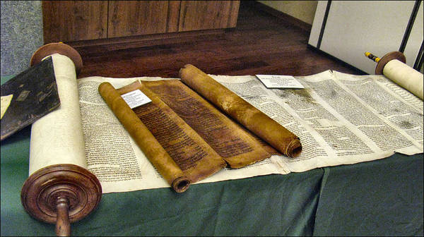 Photograph - Ten Commandments - Torah Fragment by Glenn Bautista
