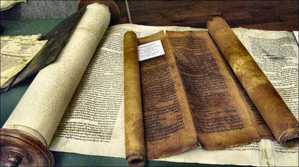 Photograph - Ten Commandments - Torah Fragment5 by Glenn Bautista